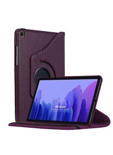 Microsonic Samsung Galaxy Tab A7 T500 Kılıf 360 Rotating Stand Deri Mor